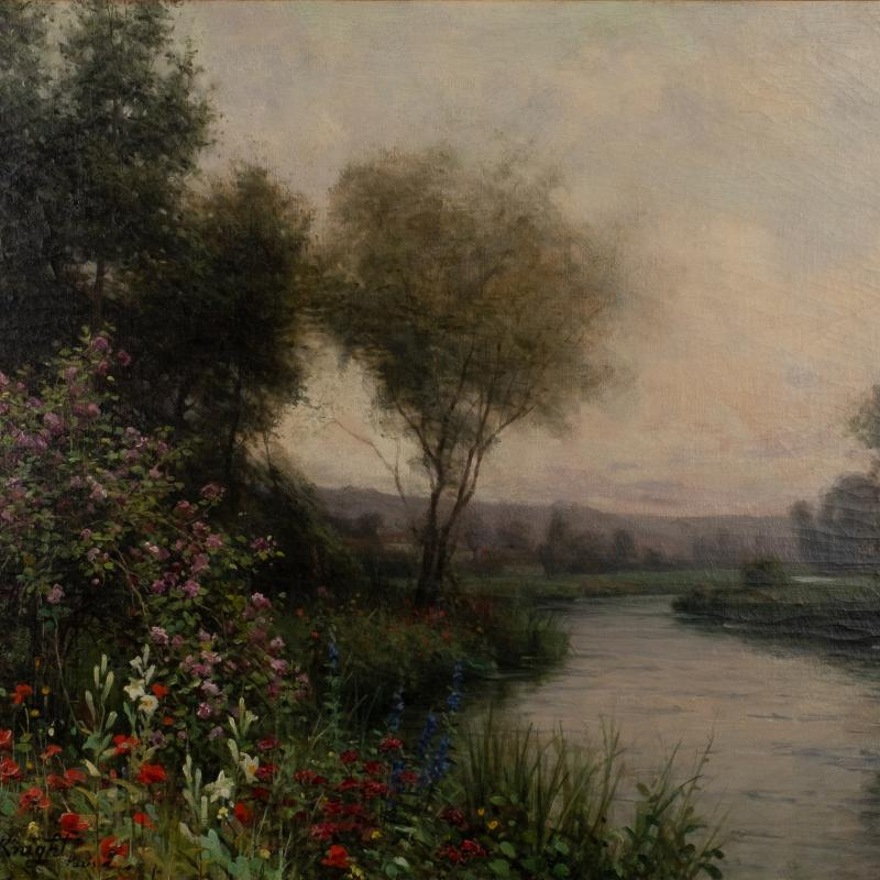 Louis Aston Knight, Flowers on the Riverbank