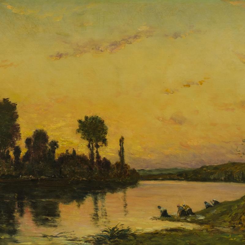 Hippolyte-Camille Delpy, Lavandières, Bord de Rivière