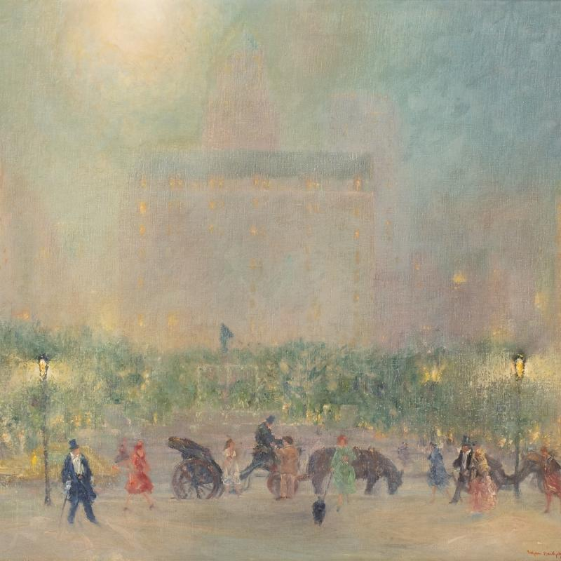 Johann Berthelsen, Summer Evening,The Plaza, New York City, 1948