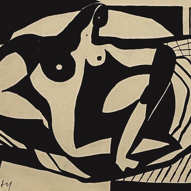 Carl Holty, Dessin #5, 1931