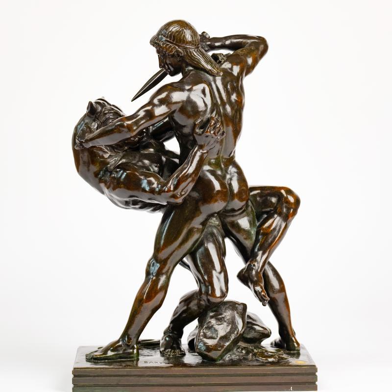 Antoine-Louis Barye, Theseus Slaying the Minotaur, 1843