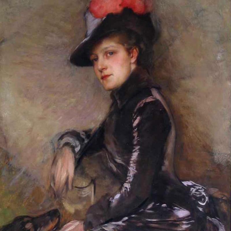 Gustave Jacquet, Portrait of a Lady, Circa 1890s