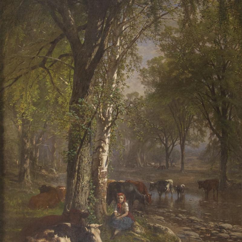 James McDougal Hart, Among Friends, 1876