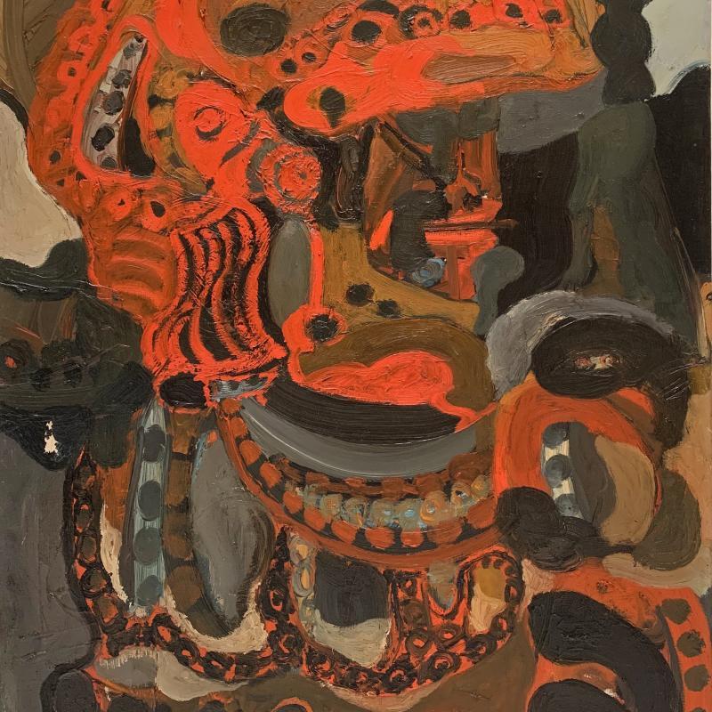 Pinchas Maryan, Orange Helmet, 1953