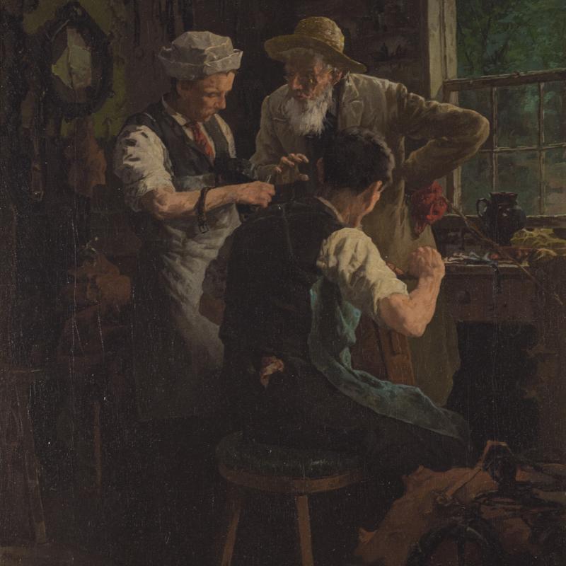 Louis Charles Moeller, In the Workshop, 1900