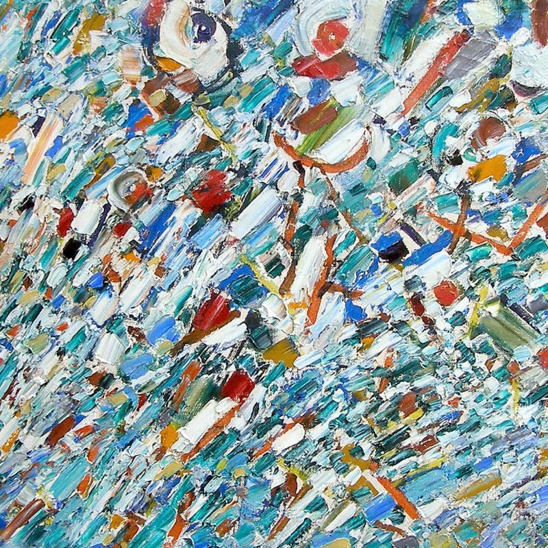 Jacques Germain, Composition Abstraite, no. 494, Circa 1960s