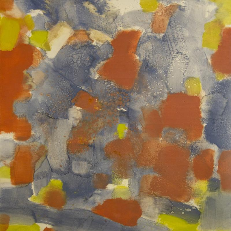 Carl Holty, Red, Yellow, Blue, Gray, 1971