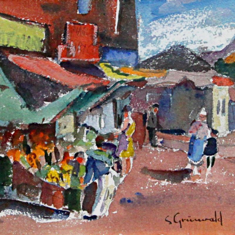 Samuel Grunvald, Market Uptown, Circa late 1940s