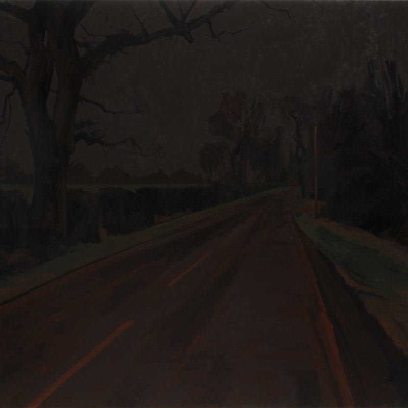 George Shaw, Study for The Painter on the Road I, 2015