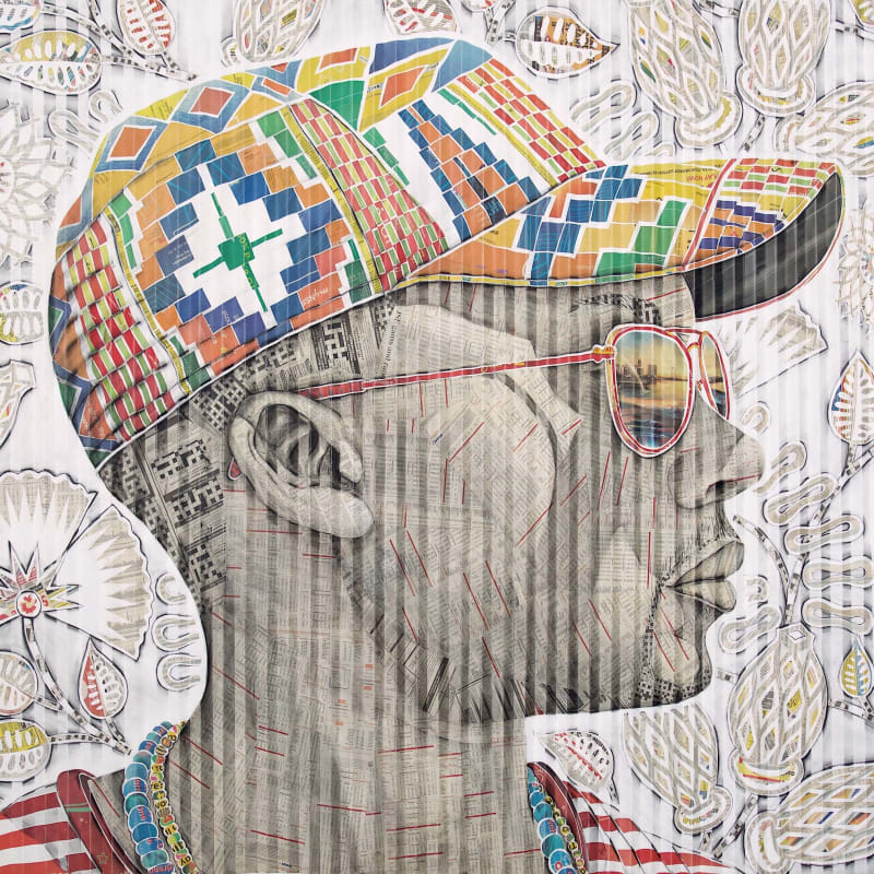 Gary Stephens, Itumeleng, The Kente Cap, 2020