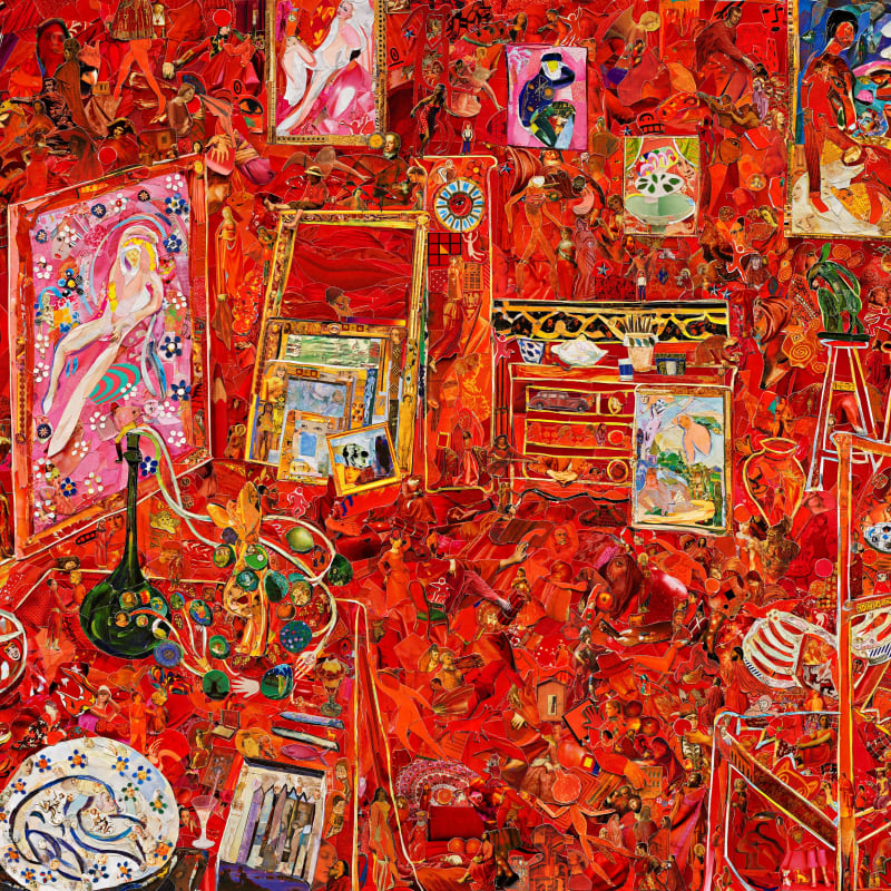 Vik Muniz, Museum of Modern Art (The Red Studio, after Henri Matisse) (Repro), 2020