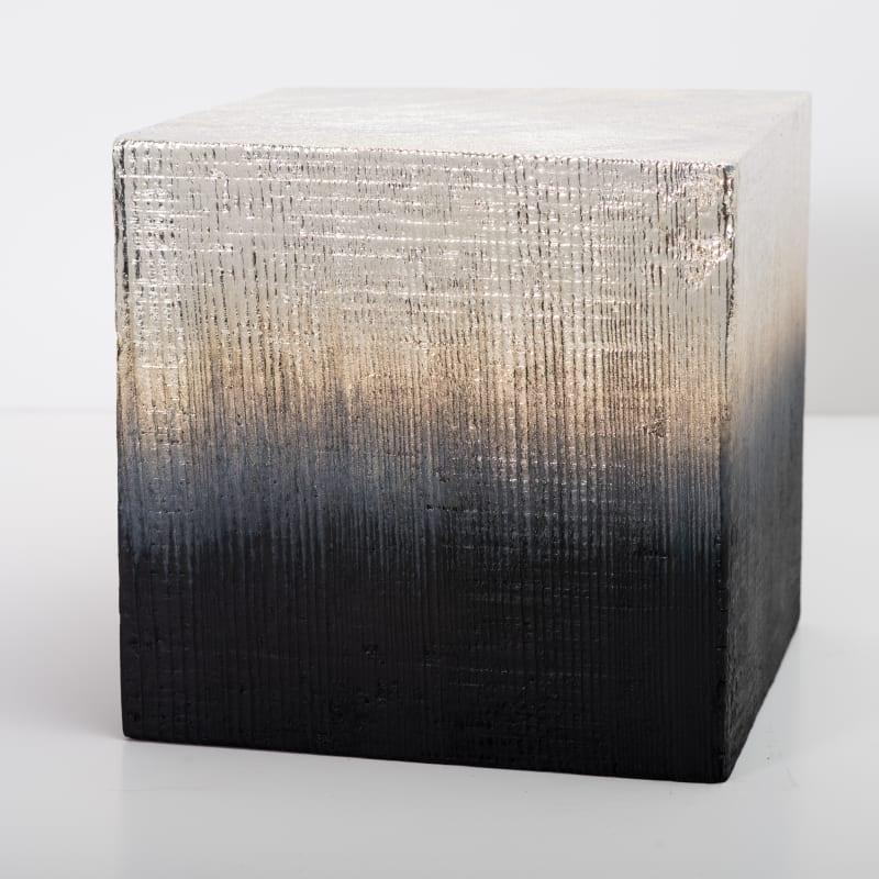 Miya Ando, Alchemy (Shou Sugi Ban) Cube 3.19.8.9, 2019