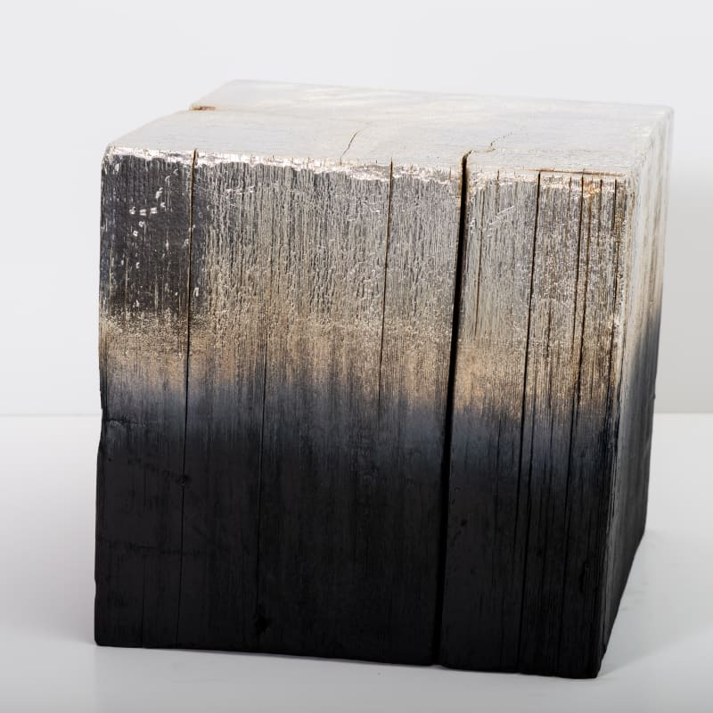 Miya Ando, Alchemy (Shou Sugi Ban) Cube 3.19.12.7, 2019