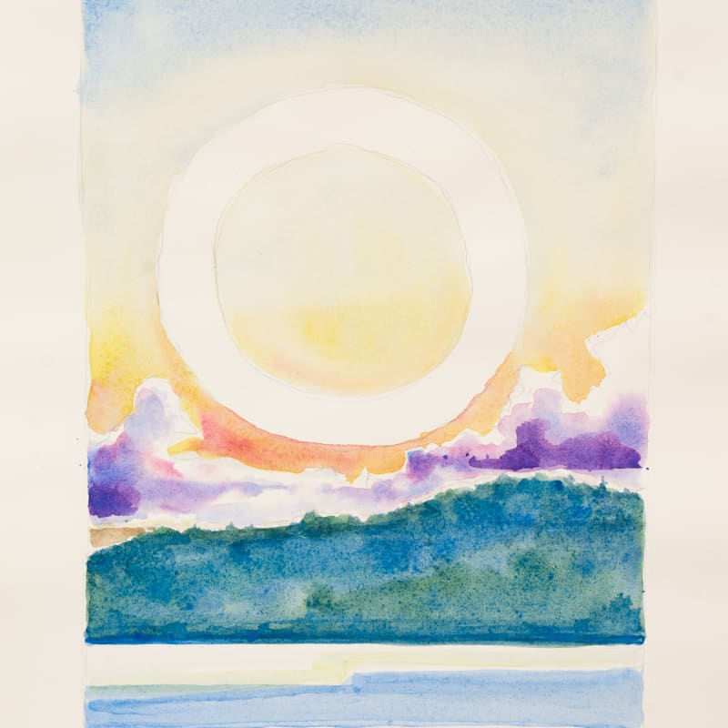 Randall Stoltzfus  Silver Bay, 2019  Watercolor on paper  16 x 12 in