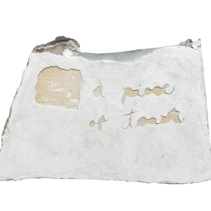 Mariel Capanna  A Piece of Toast, 2019  Lime plaster and earth pigment on drywall  14 1/2 x 22 in (36.8 x 55.9 cm)