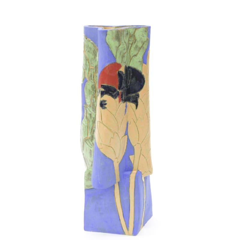 Bari Ziperstein  Coil-Pipe Moonshine Beetle, 2018  Stoneware, glaze and underglaze  14 x 6 x 6 in (35.6 x 15.2 x 15.2 cm)