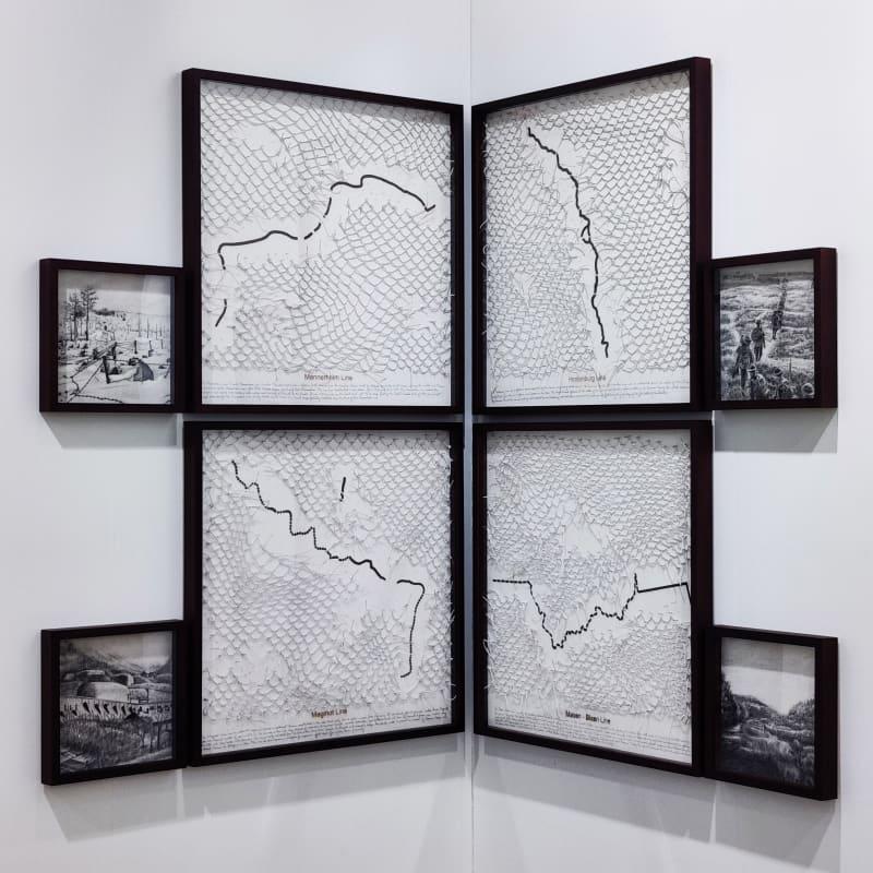 Reena Saini Kallat, Leaking Lines , 2019