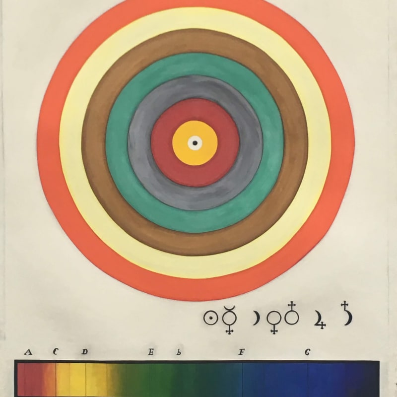 Desmond Lazaro, Cosmos II. The Seven Planets and Spectroscopy (1870), 2020