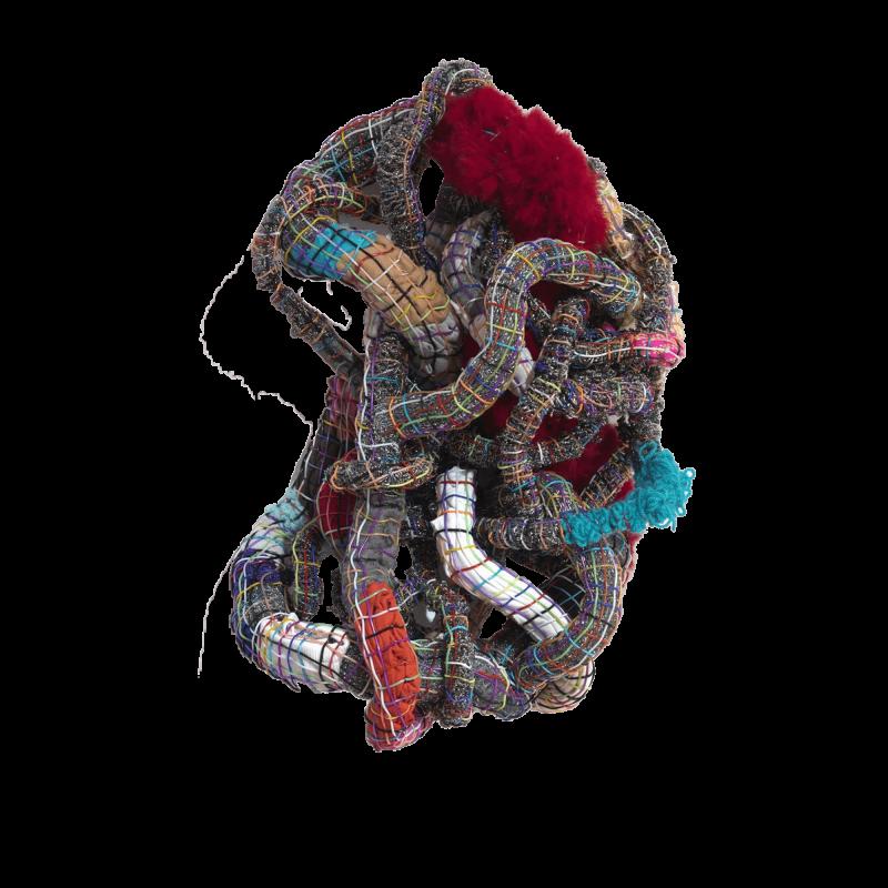 Iliodora Margellos, Untitled I (red fur), 2016