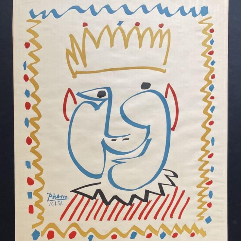 Pablo Picasso, Tete de Roi (Le Carnaval de Nice), 1951