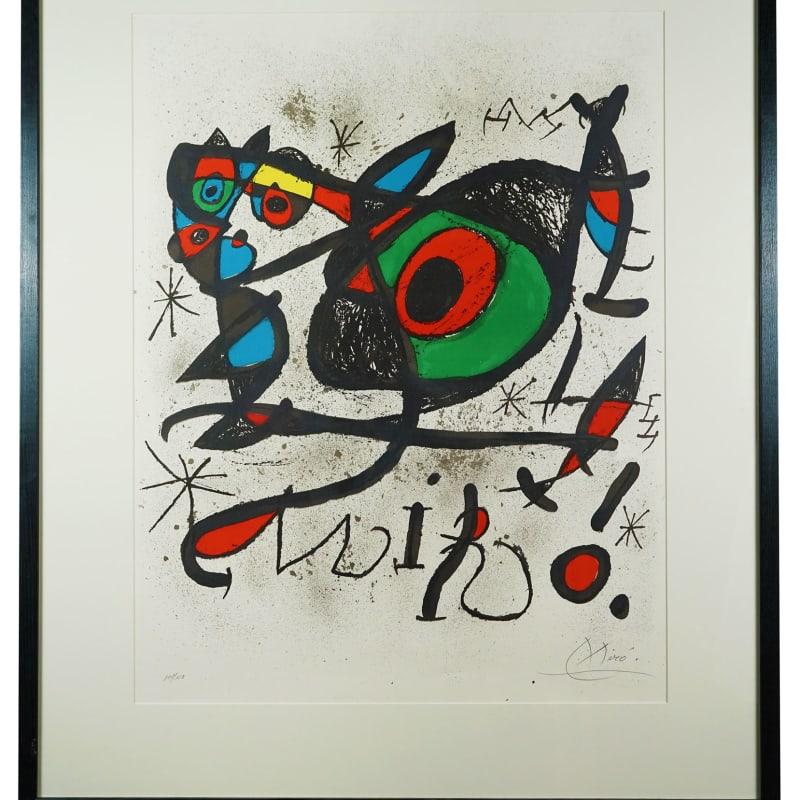 """Joan Miro, Afiche pour l'exposition """"Sobreteixims i escultures"""", 1972"""