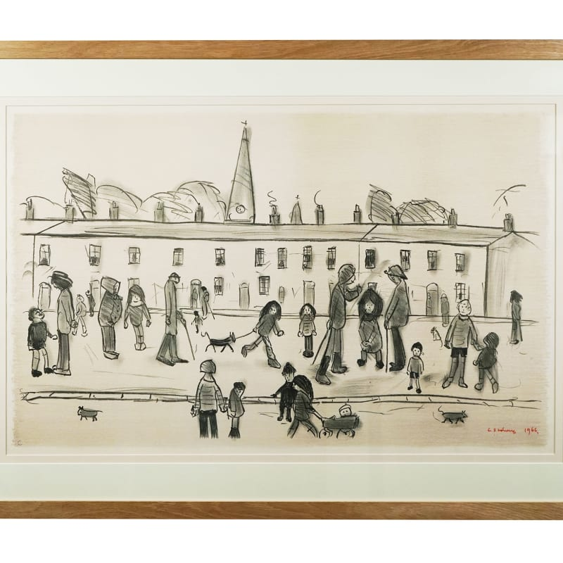 L.S Lowry, A Street Full of People, 1966