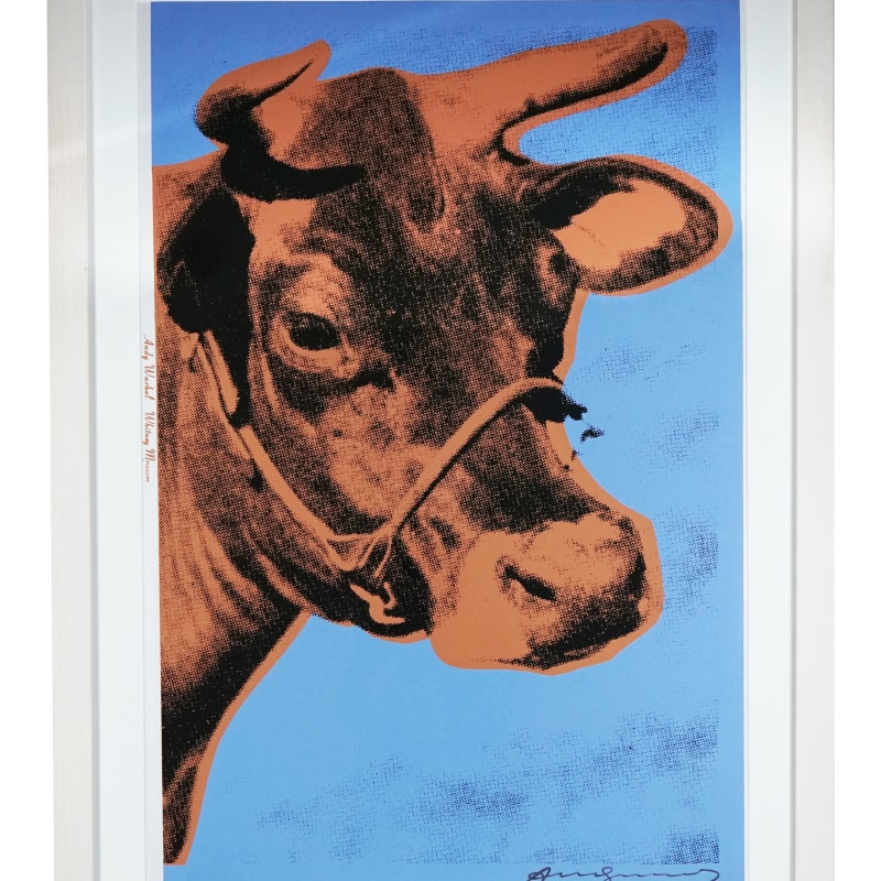 Andy Warhol, Brown Cow with Blue background, 1971