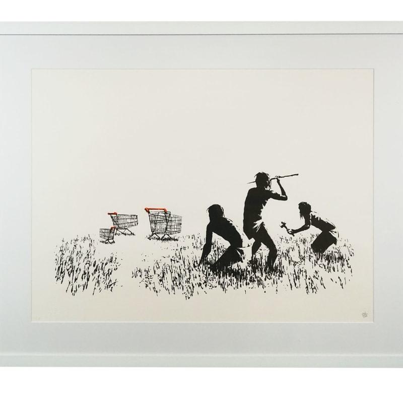 Banksy, Trolleys (Black and White), 2007