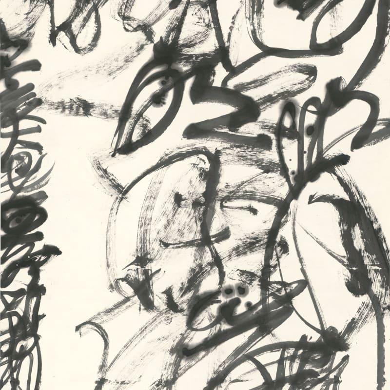 "Wang Dongling 王冬龄, Li Bai, ""Bright Moonlight in Front of My Bed"" 李白 床前明月光, 2019"