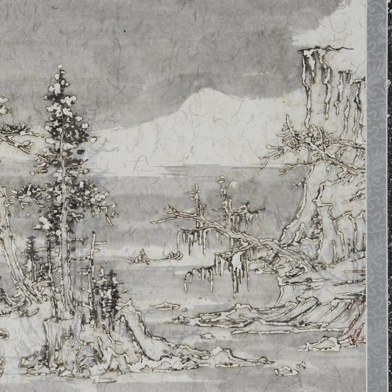 Wang Tiande 王天德, Snow along the River Bank 雪走溪岸图, 2019