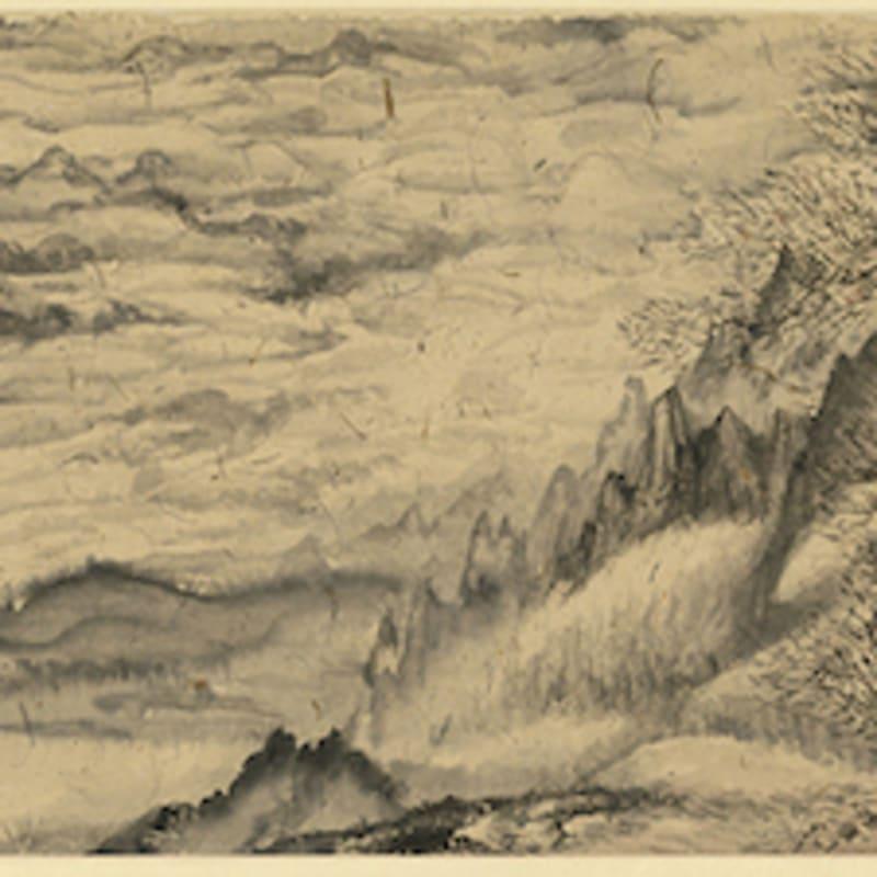 Peng Kanglong 彭康隆, Intermittent Landscape Handscroll 段段续续山水长卷, 2005