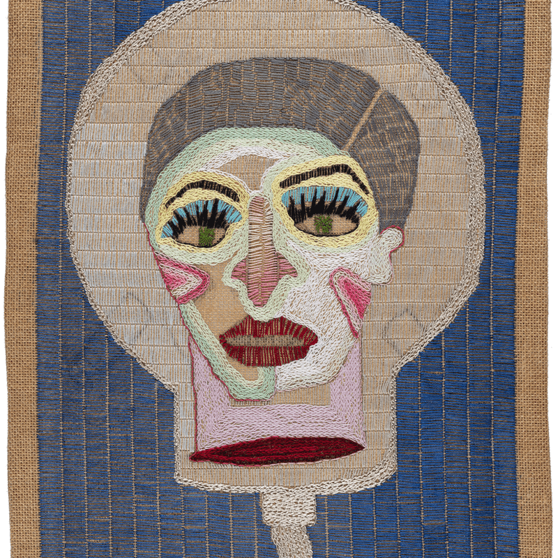 Paloma Castillo  Espacio I, 2020  Hand embroidery with cotton and silk threads on jute  52 x 41 cm