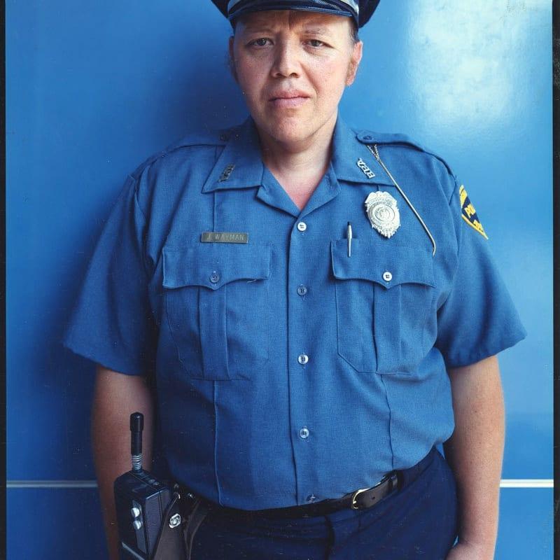 Bruce Wrighton J.Wayman, Auxiliary Police, Binghamton, NY Tirage C-print d'époque 20 x 25 cm Dim. papier: 20 x 25 cm