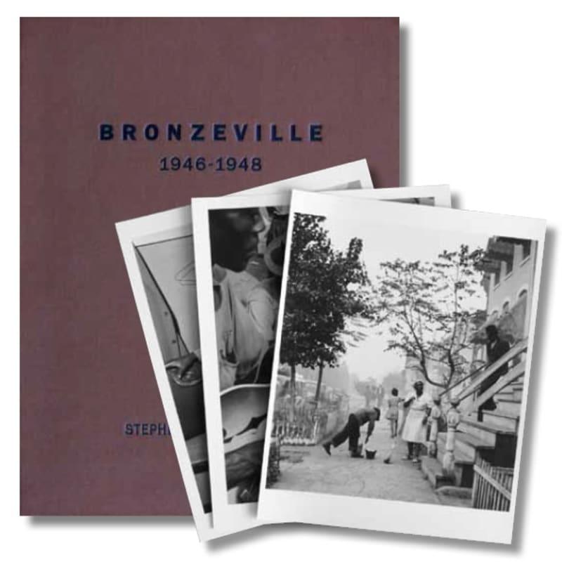 """Wayne F. Miller Bronzeville Portfolio composé de vingt-cinq tirages et d'un livre signé intitulé """"Chicago's South Side 1946-48"""", édité par Stephen Daiter en 2008 30 x 40 cm Dim. papier: 35,5 x 28 cm"""