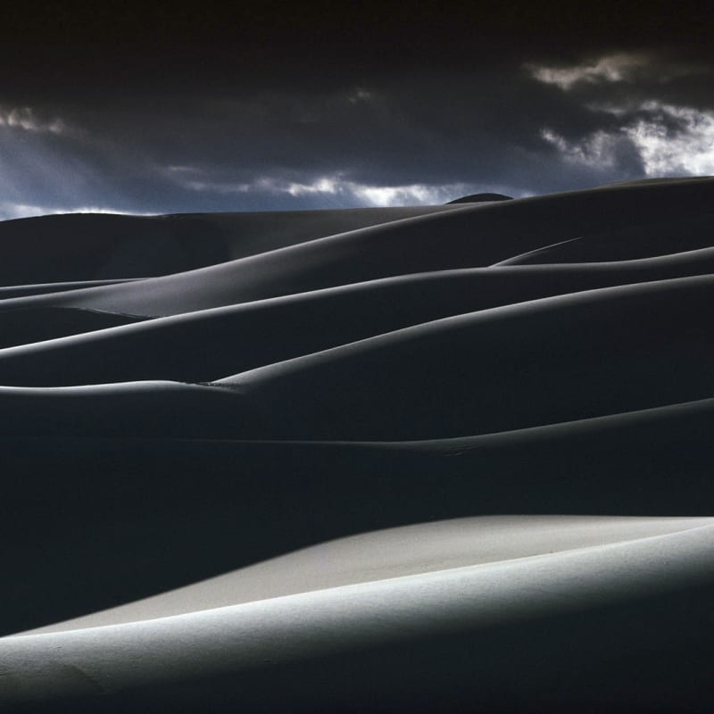 Ernst Haas Great Sand Dunes, National Park, Colorado Tirage Dye transfer d'époque 26 x 38 cm Dim. papier: 50 x 60 cm