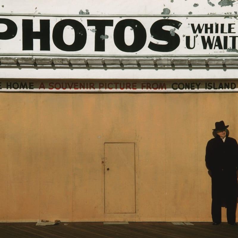 Marvin E. Newman Winter Boardwalk Tirage pigmentaire postérieur 38 x 54 cm Dim. papier: 43 x 56 cm