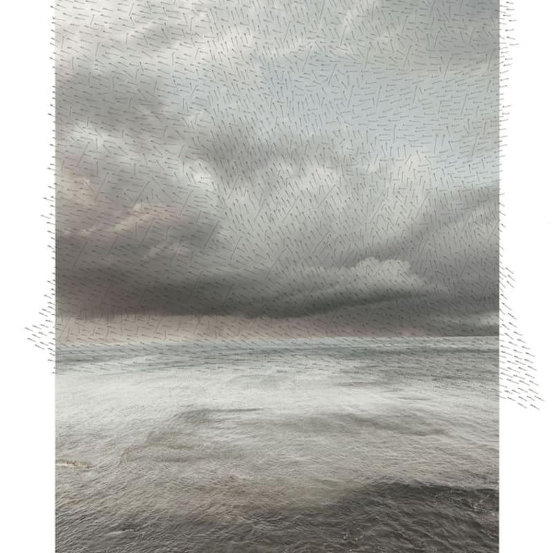 Jacqueline Salmon Plage, Toulon Tirage à encres pigmentaires sur papier Velvet d'Epson réalisé par l'artiste, certifié digigraphie Dim. papier: 50 x 70 cm