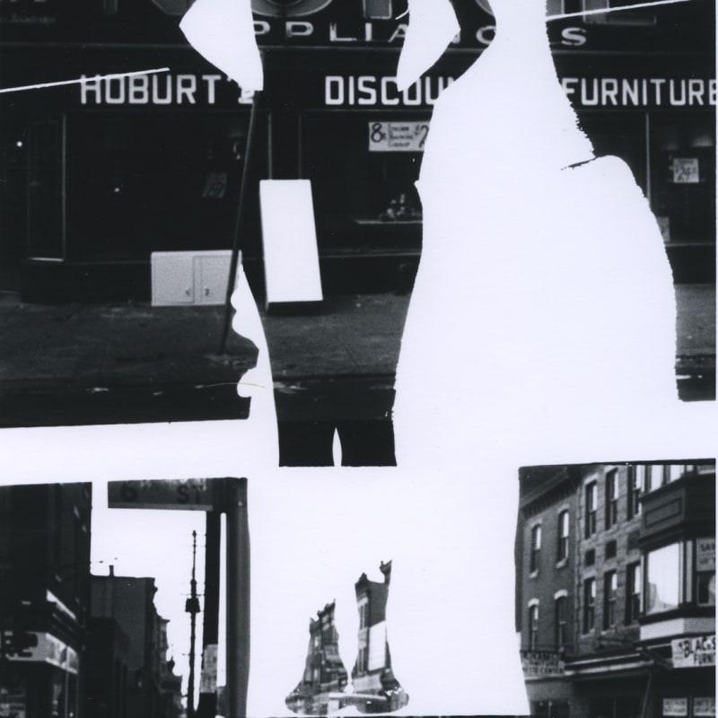 Ray K. Metzker Philadelphia: Double Frame Tirage gélatino-argentique d'époque, réalisé par l'artiste 15,6 x 22,6 cm Dim. papier: 20,3 x 25,4 cm