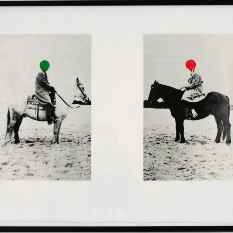 John Baldessari Two Horses and Riders Lithographie 45 x 63 cm 17.72 x 24.8 in Dim. papier: 62,29 x 82,3