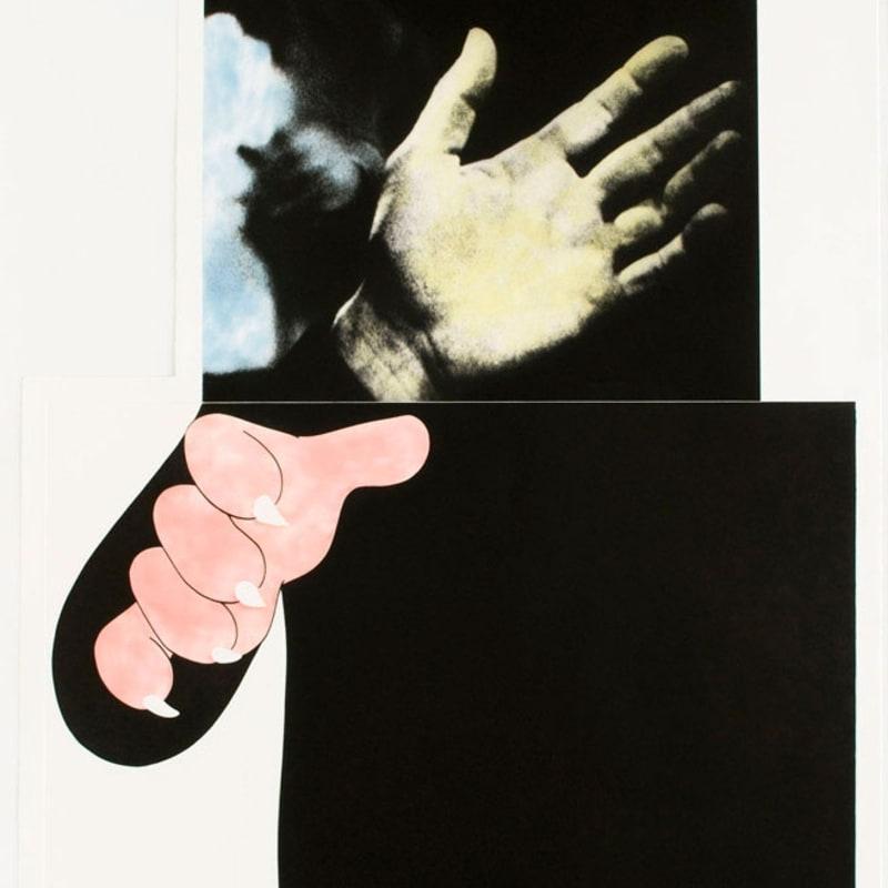 John Baldessari Two Hands (with Distant Figure) Photogravure avec aquatinte en couleurs 134 x 88,9 cm Dim. papier: 134 x 88,9 cm