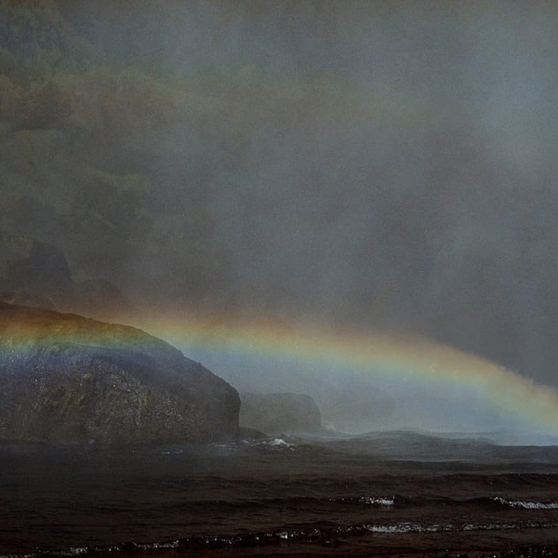 Ernst Haas A double rainbow over the sea in Iceland Tirage Dye Transfer d'époque Dim. papier: 61 x 51 cm