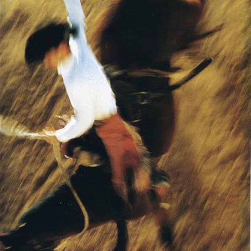 Ernst Haas Bronco Rider, California Tirage Dye Transfer d'époque 37,5 x 57 cm Dim. papier: 38,5 x 58 cm