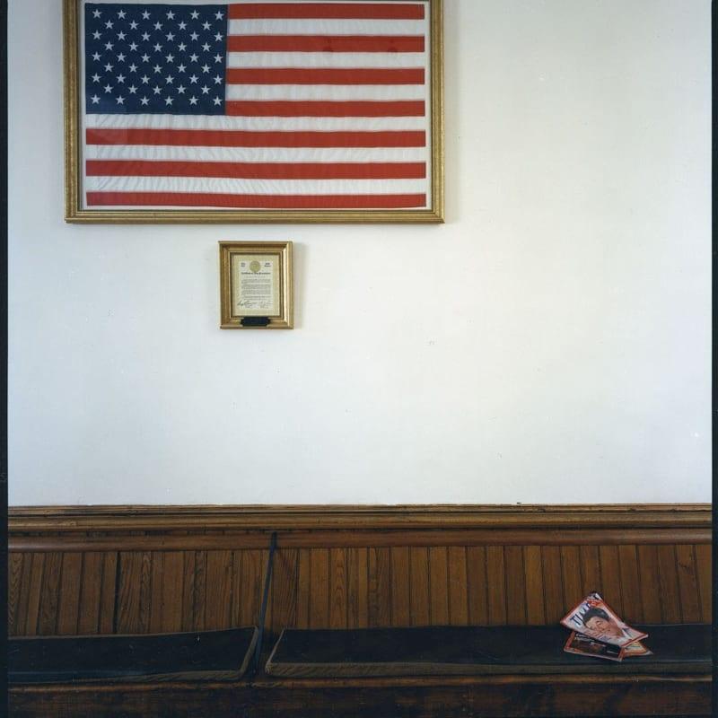 Bruce Wrighton Tioga County Courthouse, Owego, NY Tirage C-print d'époque 20 x 25 cm Dim. papier: 20 x 25 cm