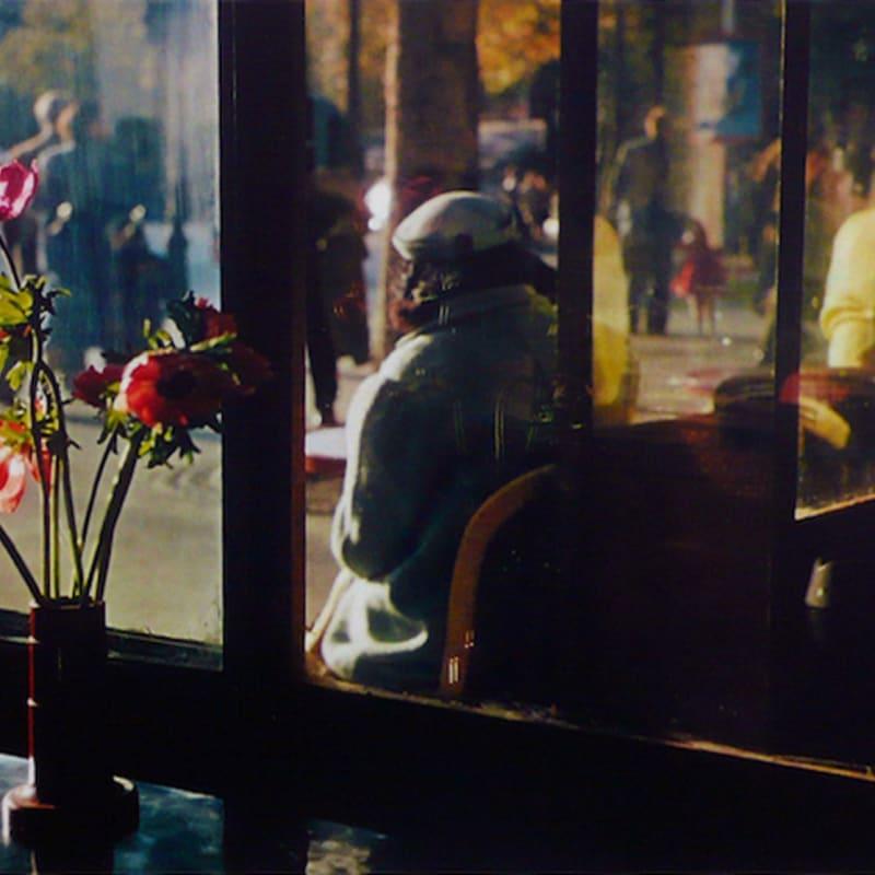 Ernst Haas Paris café Tirage Dye Transfer d'époque Dim. papier: 40,5 x 50,5 cm