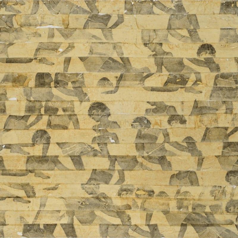 Gil Joseph Wolman Sans titre art scotch sur toile 60 x 81 cm 13 3/8 by 19 5/8 in.