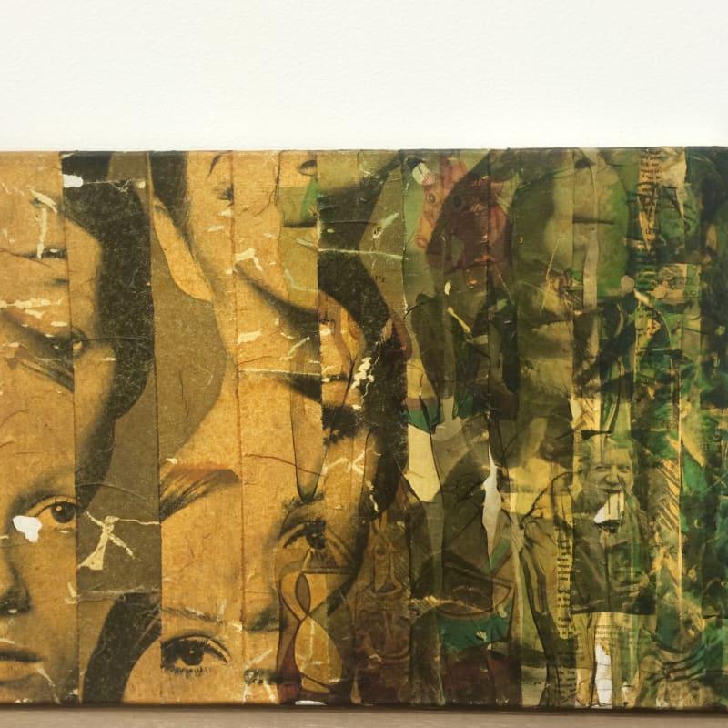 Gil Joseph Wolman Sans titre (Picasso) art scotch sur toile 33 x 55 cm