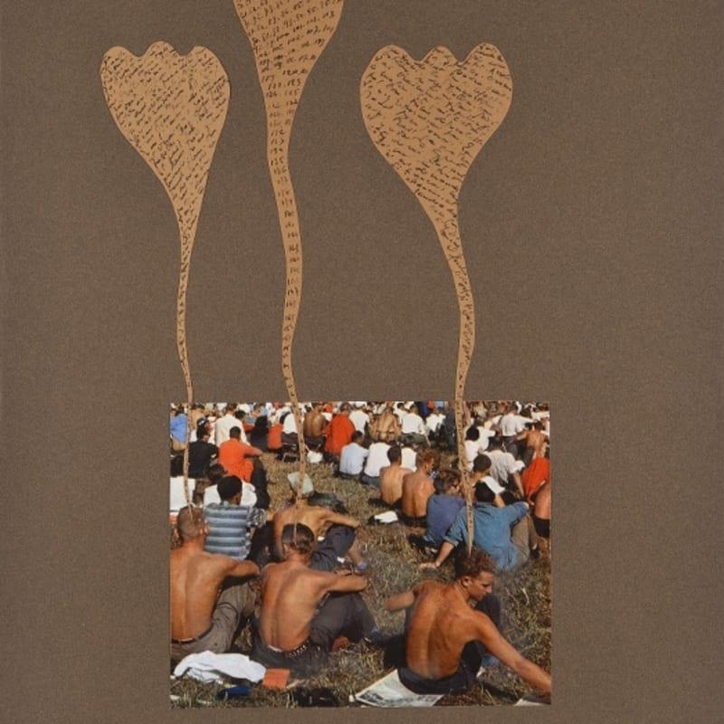 Bernard Heidsieck Foule n° 65 écritures et collage de photographie sur papier 54 x 40 cm (disponible) 8 3/8 by 8 3/8 in. (available)