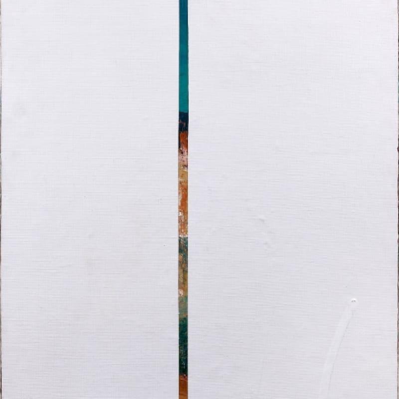 Gil Joseph Wolman Peinture fermée huile sur toile recouverte par deux lés de toile apprêtée blanche marouflée maro 73 x 50 cm