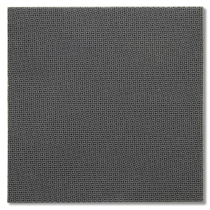 François Morellet 3 trames 0°, -22°5, +22°5 Grillage sur bois 60 x 60 cm 23 1/2 x 23 1/2 in.