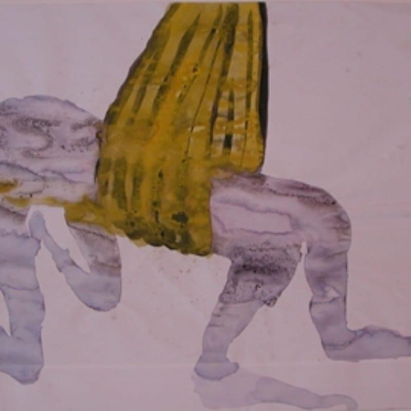 Sébastien Pignon Série des dessins enveloppes crayon, feutre, aquarelle et encre 22.5 x 37 cm 59 by 45 7/8 in.